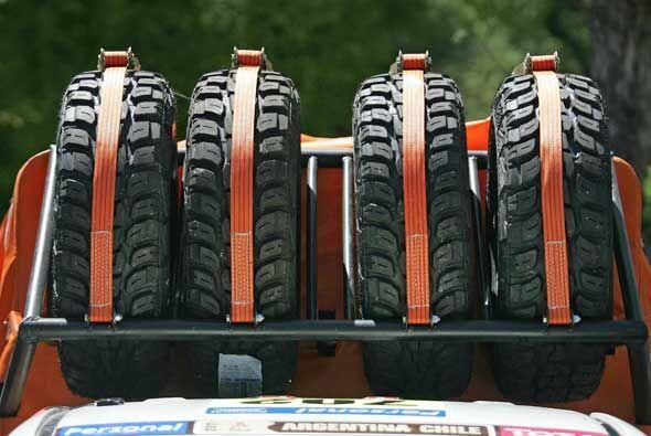 Los neumáticos de repuesto serán fundamentales para las 13 etapas del Ra...