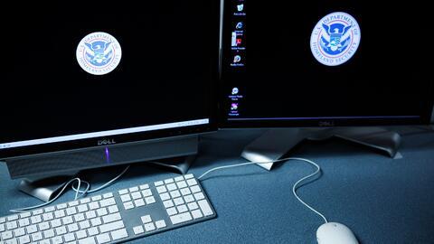 Esta foto de archivo muestra la computadora en una sala de entrenamiento...