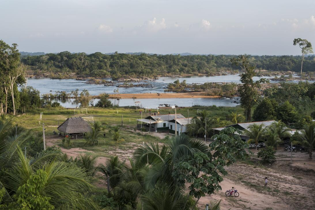 A view of the village of Miratu in the Paquiçamba Indigenous Reserve on...