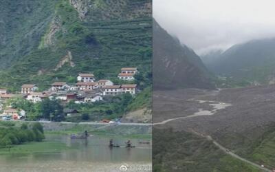 Un deslizamiento de tierra sepulta a un pueblo completo en China