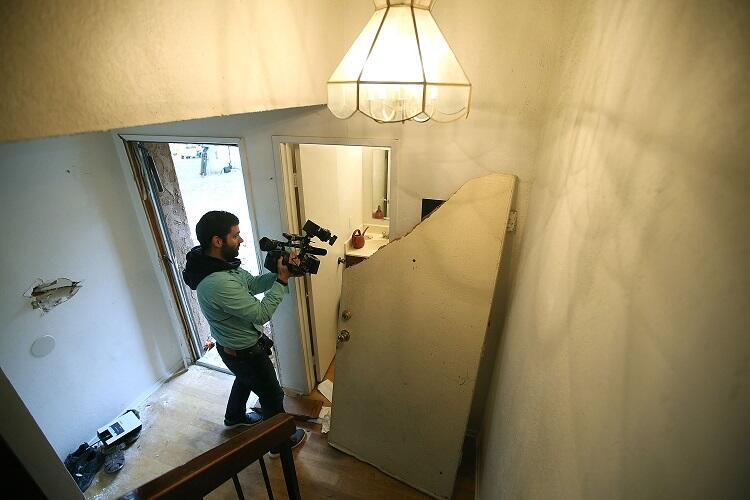Interior de la casa yed Farook y su esposa Tashfeen Malik