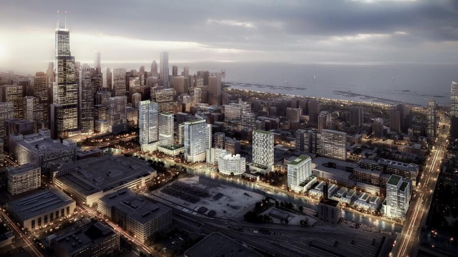 Imágenes de nuevo desarrollo en el centro de Chicago