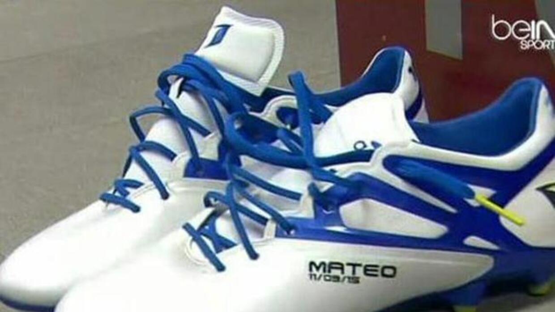 Messi lució el nombre de sus hijos en sus botines