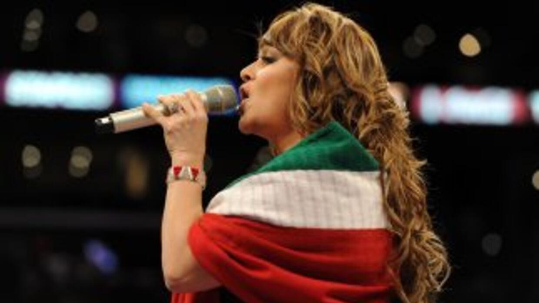 Jenni Rivera, en el escenario.