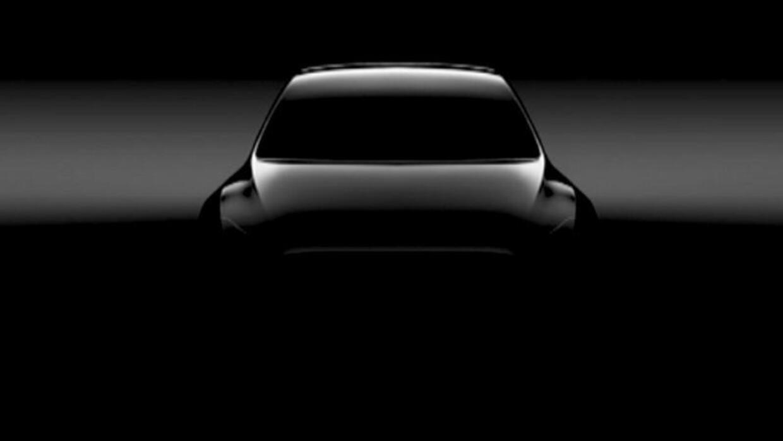 Imagen de intriga de la próxima Tesla Model Y