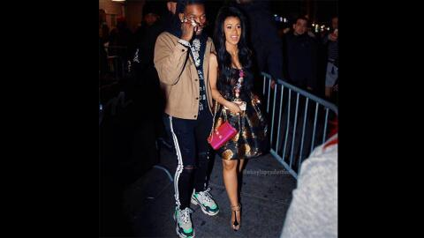 Rapper Cardi B and Offset are rumored to be expecting their first baby t...