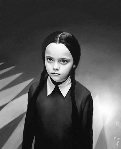 ¡Igualita a Christina Ricci en las cintas de 'Addams Family'!