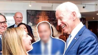 ¿Celos de El Gordo? Mira la cara de Raúl de Molina cuando vio a su esposa con Joe Biden
