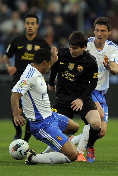 'La Pulga' pudo haber hecho dos goles más pero falló en la definición.