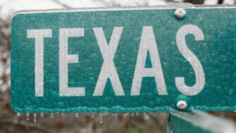 Hielo durante un invierno en Austin, Texas.