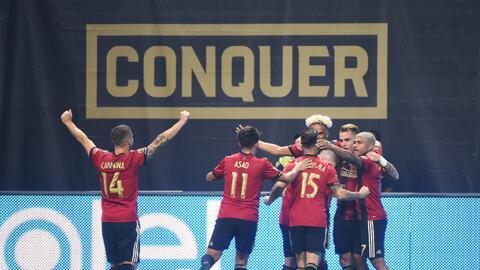 Jugadores de Atlanta United celebran