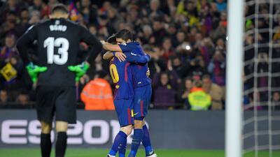En fotos: Baile, goleada y golpe de autoridad del Barcelona