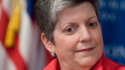 La jefa de la seguridad de Estados Unidos, Janet Napolitano, espera que...