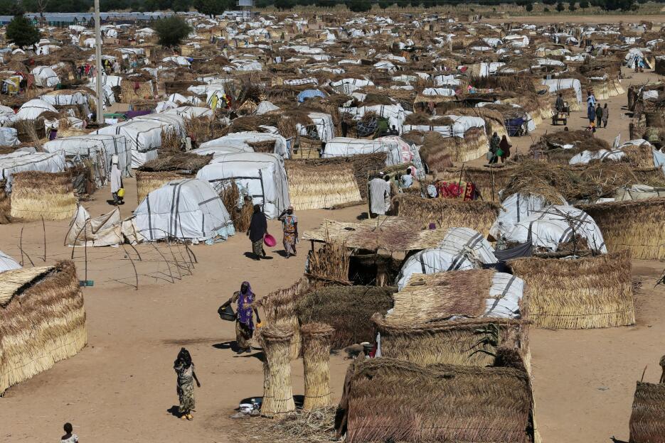 Nigeria: Campamento de desplazados en Maiduguri, a comienzos de diciembre.