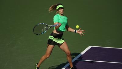 Así se vio la hermosa Eugene Bouchard en su despedida del WTA Miami Open