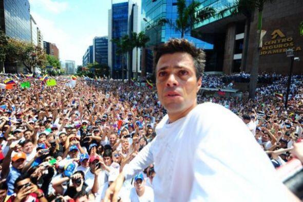 Esta foto se la tomó el líder de oposición de Venezuela Leopoldo López a...