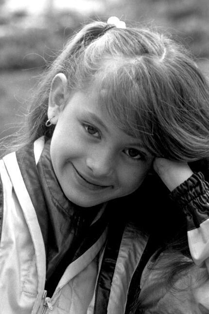 Paulina Rubio en 1982, a la edad de 11 años/México,1982.