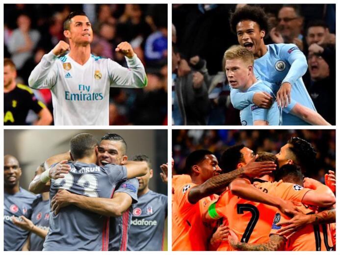 Así se jugó la jornada de este martes en la Champions League collage-sin...