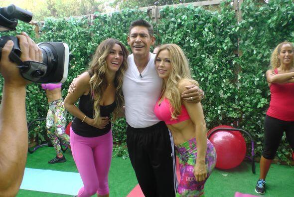 La guapa actriz mexicana hizo ejercicio, cocinó y alegró a...
