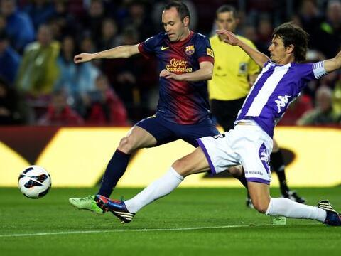 El Barcelona recibió en el Camp Nou al Valladolid ya como campe&o...