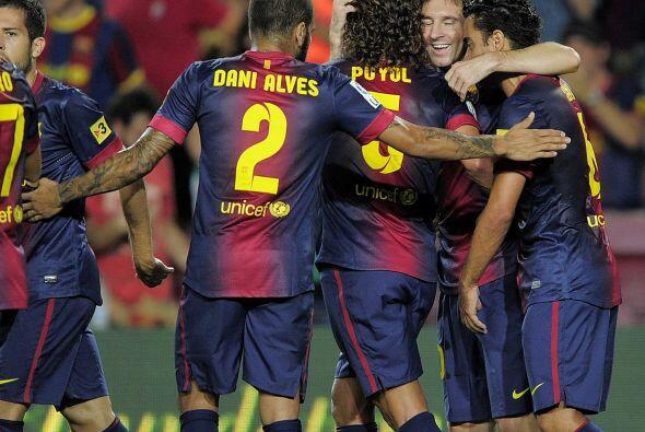 Messi consiguió rematar un centro por izquierda y marcar el 3-1.