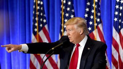 En su primera conferencia de prensa, el presidente electo Donald Trump a...