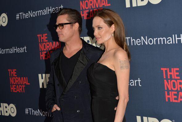 La ganadora del Oscar y Brad Pitt fueron a la presentación de una pelícu...