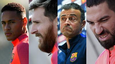 Las caras de Barcelona en el entrenamiento previo al clásico contra Real Madrid