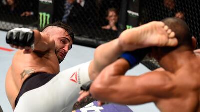 Golpes directos captados en el momento exacto en la UFC
