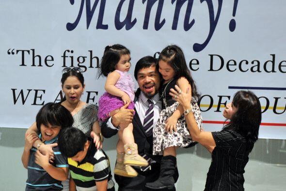 El mejor momento fue al reunirse con toda su familia.