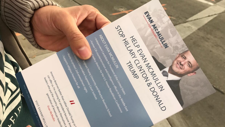 Evan McMullin, un candidato desconocido por la mayoría de los estadounid...