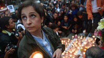 La periodista mexicana Carmen Aristegui.