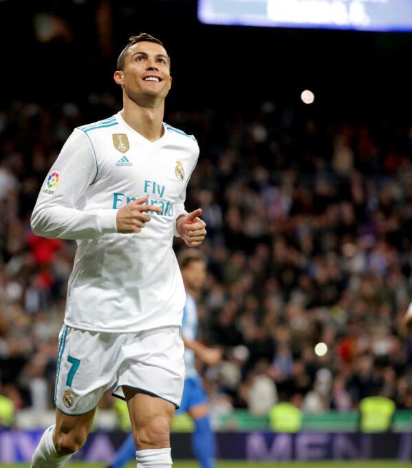 Cristiano Ronaldo rescató al Real Madrid de un empate en casa con el Mál...