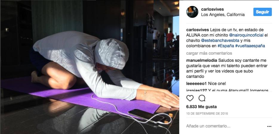 Haciendo yoga en Los Ángeles.