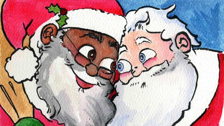 Resultado de imagen para Un Santa Claus interracial y homosexual