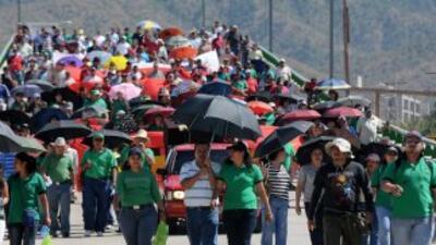 Maestros, obreros e indígenas protestan en Honduras.