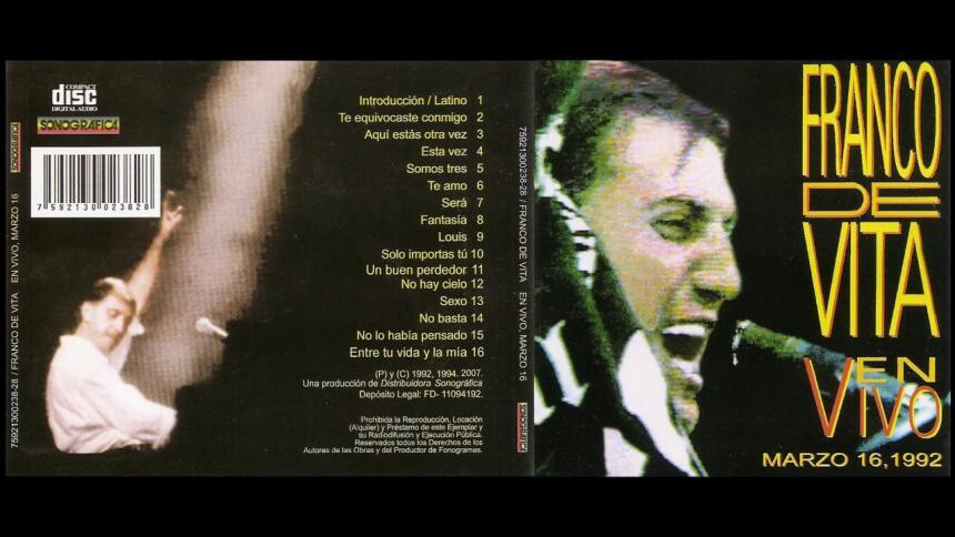 El disco 'En vivo marzo 16' fue grabado el Poliedro de su natal...
