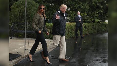 ¿Antes muerta que sencilla? Melania Trump viajó a zona de desastre entac...