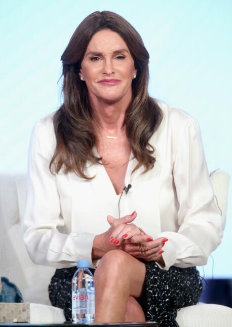Caitlyn Jenner durante la presentación de la nueva temporada de su show.