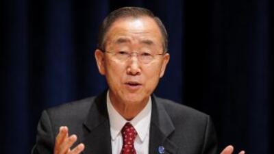 Ban Ki-moonreiteró su llamamiento para que cese la violencia en el país...