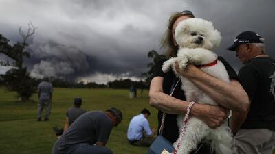 Juegan golf y se toman selfies: la increíble conducta de quienes conviven con el volcán Kilauea