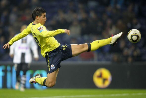 El colombiano James Rodriguez del Porto demostró habilidad y control del...