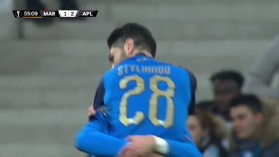 ¡GOOOL! Marios Stylianou anota para Apollon Limassol