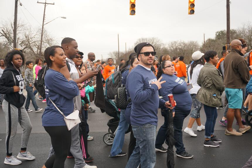 Thousands of people joined in the Martin Luther King Jr. march to Pittma...