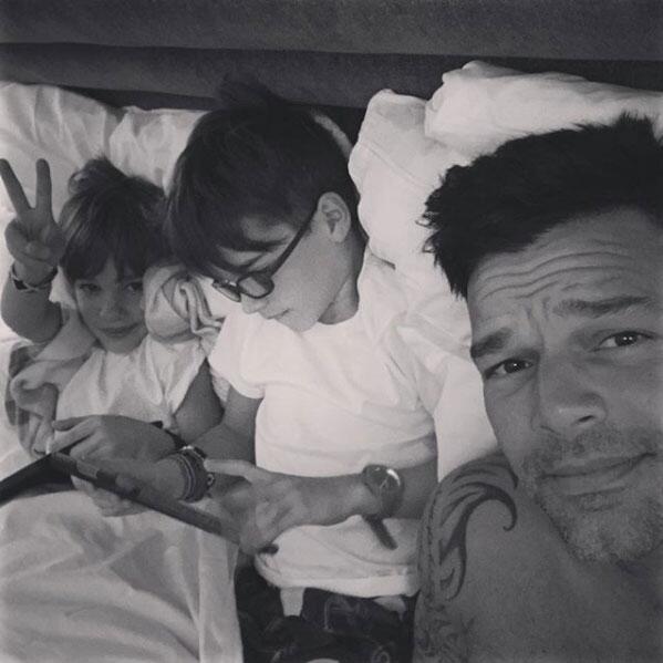 Ricky Martin y sus gemelos