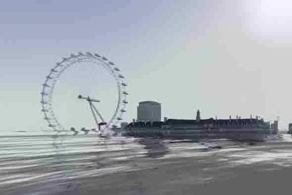 Aquí una toma de la ruda llamada London Eye. Los estudios dicen que la p...