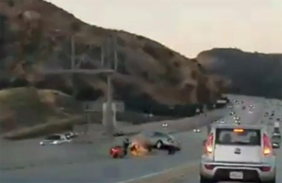 Accidente en Santa Clarita, California
