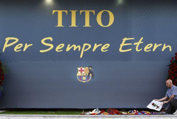 "Bartomeu añadió que ""Tito ha simbolizado lo que es ser delBarça""."