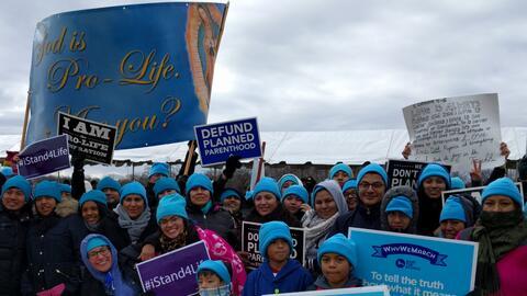 La mayoría de los asistentes a la Marcha Pro-Vida en Washington v...
