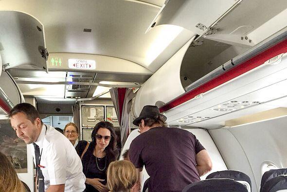 ¡Viajaron todos en clase turista!